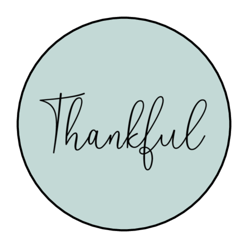 """Thankful"" Circle Labels pre-designed label template for OL2088"