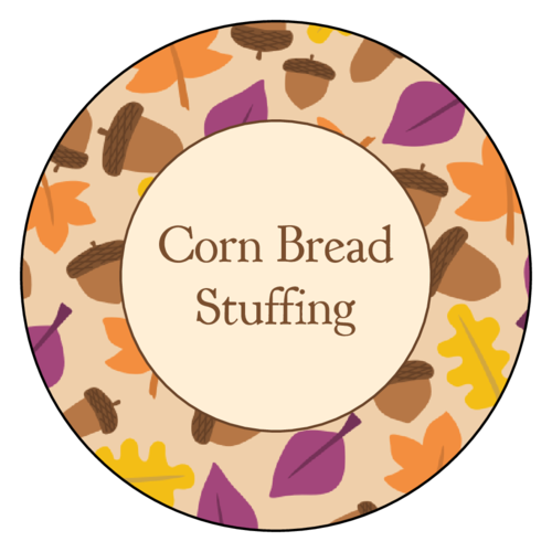 Thanksgiving/Autumn/Fall Label Template: Leaves and acorns