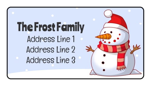 Winter Wonderland Address Labels pre-designed label template for OL160