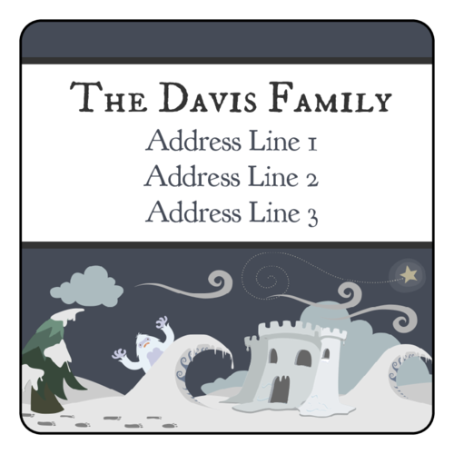 "OL291 - 2.5"" x 2.5"" Square - Holiday Yeti Address Labels"