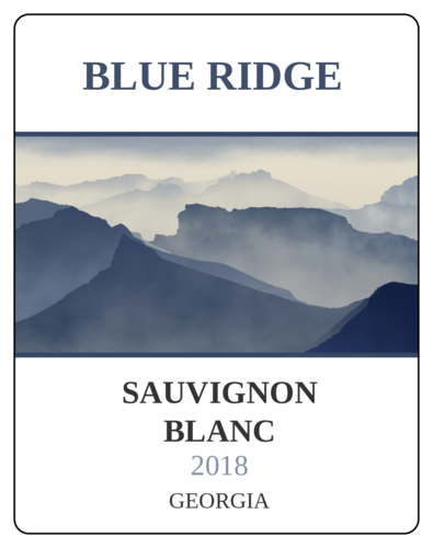 Blue Ridge Mountains Wine Bottle Labels pre-designed label template for OL2547