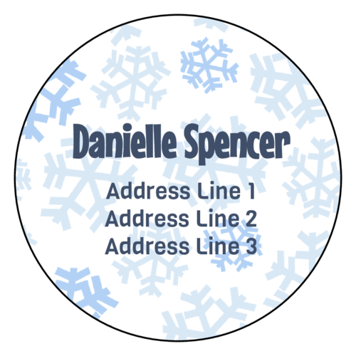 "OL224 - 2.75"" Circle - Charming Snowflake Address Labels"