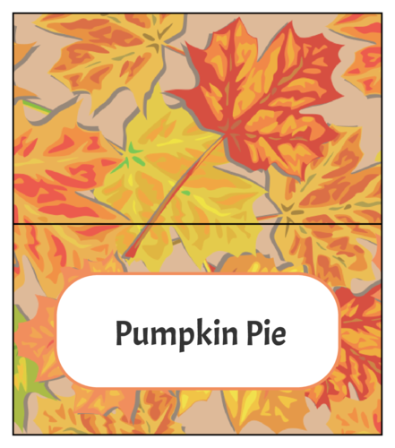 Thanksgiving/Autumn/Fall Label Template: Neon leaves
