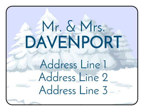 "OL500 - 4"" x 3"" - Crisp Winter Wonderland Address Labels"