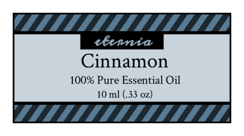 Striped Essential Oil Labels pre-designed label template for OL5125