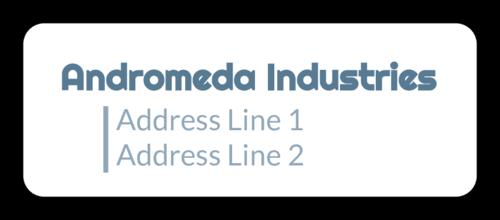 Modern Color Pop Address Labels (Round Corner Rectangle)
