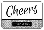"""""""Cheers!"""" Anniversary Champagne Bottle Labels"""