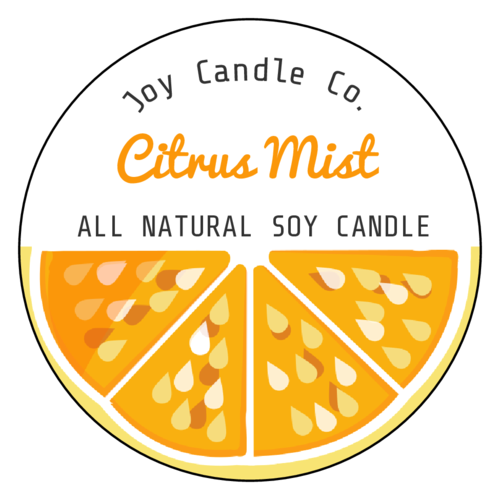 "OL317 - 7"" Circle - Citrus Candle Labels"