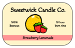 Strawberry Lemonade Candle Labels