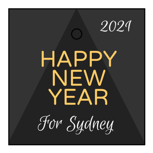 Chic New Year Cardstock Gift Tags pre-designed label template for OL3491