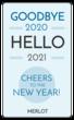 """""""Goodbye 2018 Hello 2019"""" Wine Bottle Labels"""