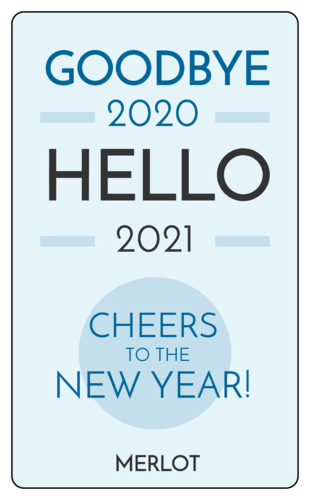 """Goodbye 2018 Hello 2019"" Wine Bottle Labels (Round Corner Rectangle)"