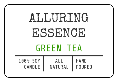 Alluring Essence tea label