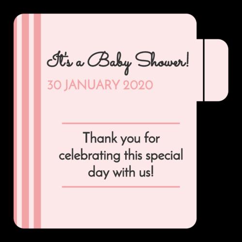 "OL1102 - 2.125"" x 2.125"" - Striped Baby Shower Lip Balm Favor Labels"