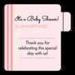 Striped Baby Shower Lip Balm Favor Labels