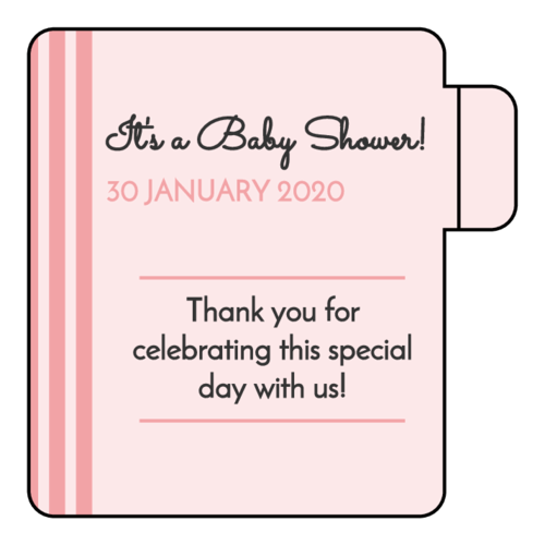 Striped Baby Shower Lip Balm Favor Labels pre-designed label template for OL1102