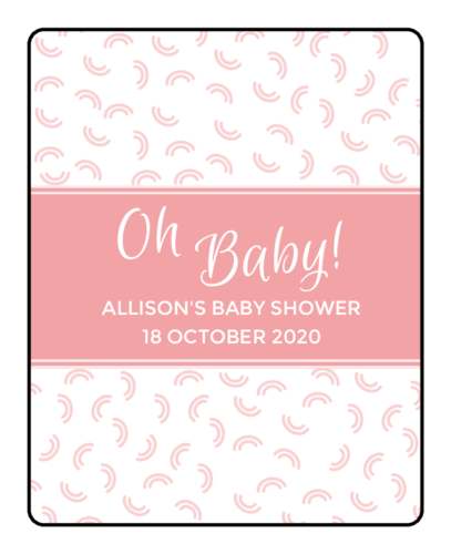 "OL150 - 4"" x 3.33"" - ""Oh Baby!"" Baby Shower Lip Balm Labels"