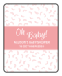 """Oh Baby!"" Baby Shower Lip Balm Labels"