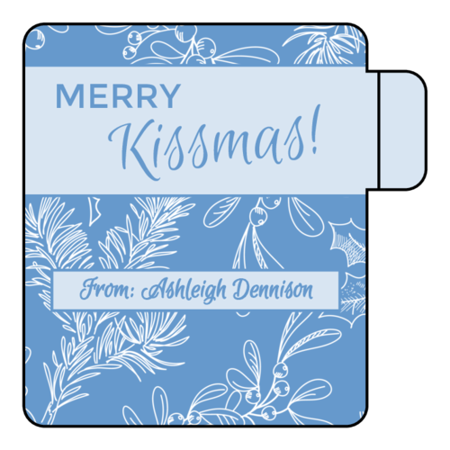 "OL1102 - 2.125"" x 2.125"" - ""Merry Kissmas!"" Lip Balm Labels"