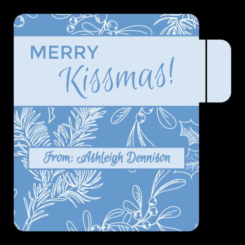 """Merry Kissmas!"" Lip Balm Labels pre-designed label template for OL1102"