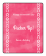 Watercolor Valentine's Day Lip Balm Labels