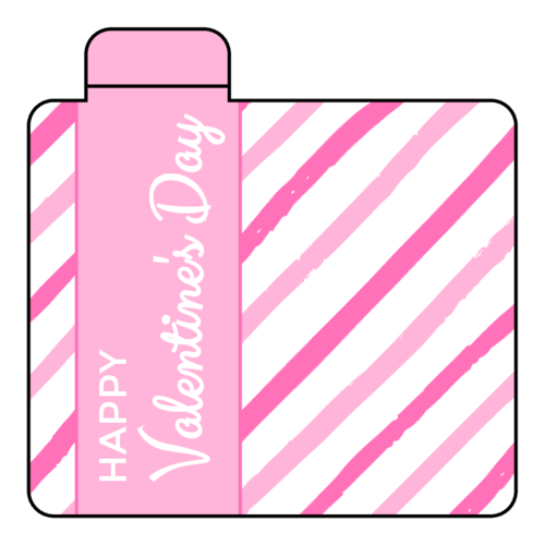 Candy Stripe Valentine's Day Lip Balm Labels pre-designed label template for OL1102