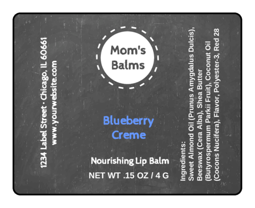 Black Board Lip Balm Labels pre-designed label template for OL421