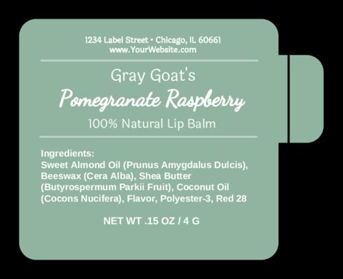 Simplistic Lip Balm Tube Label