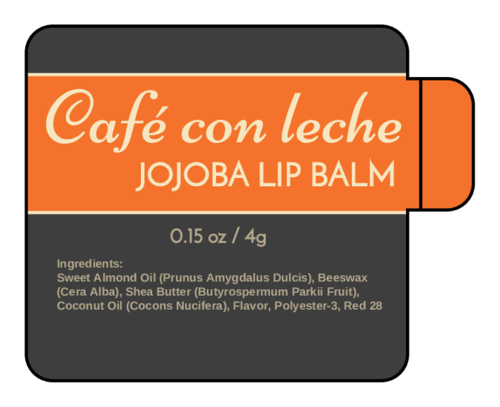 Classic Safety Tab Lip Balm Labels pre-designed label template for OL2162