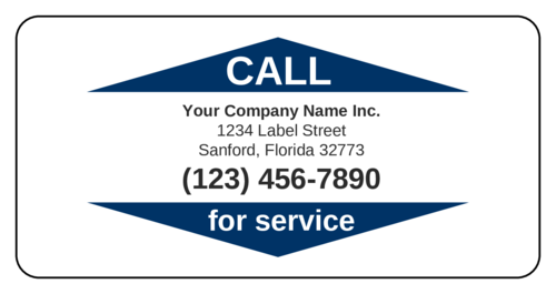 "OL318 - 6"" x 3"" - ""Call for Service"" Business Labels"