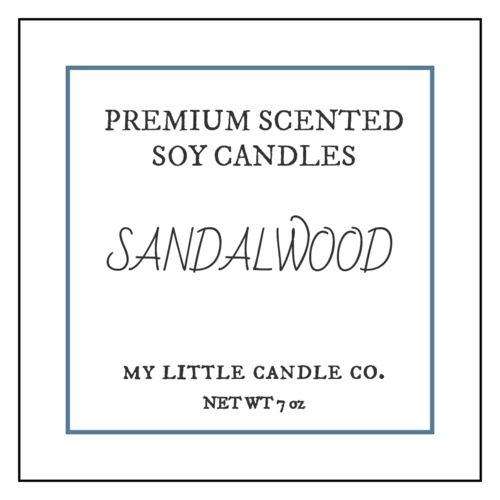 Sophisticated Candle Labels (Square Corner Rectangle)
