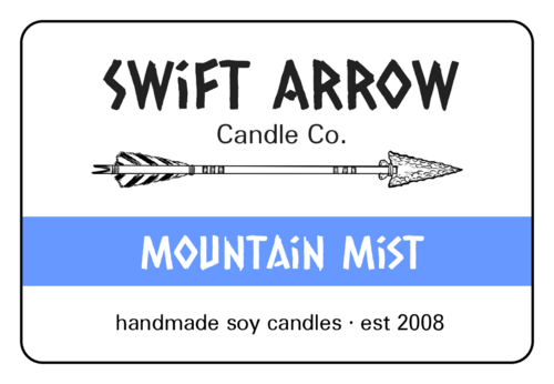 Northwest Candle Labels (Round Corner Rectangle)