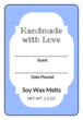 Write-in Wax Melt Labels