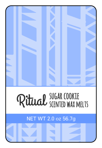Geometric Wax Melt Labels (Round Corner Rectangle)