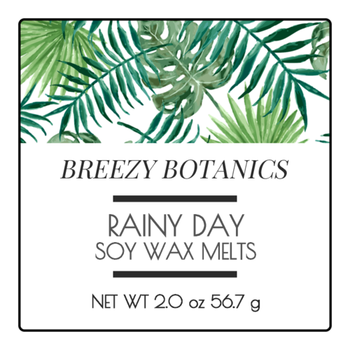 Botanical wax melt label template.