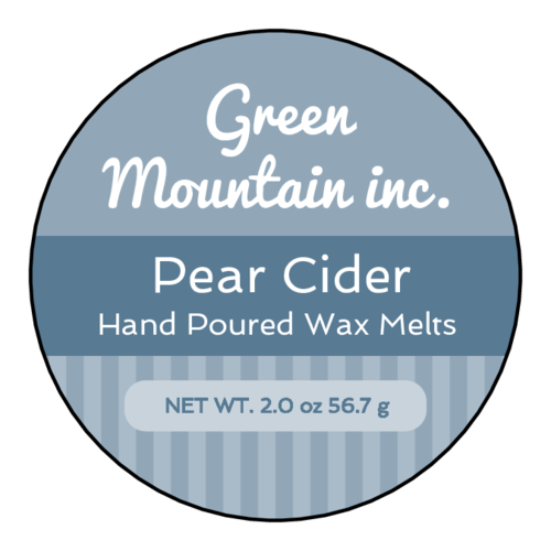 Traditional Striped Wax Melt Labels (Circle)