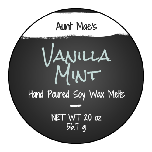 "OL317 - 7"" Circle - Chalkboard Style Wax Melt Labels"