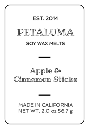 Black and White Wax Melt Labels (Round Corner Rectangle)