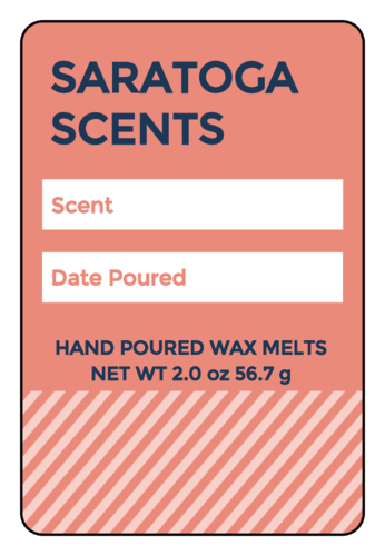 Colorful Write-In Wax Melt Labels (Round Corner Rectangle)
