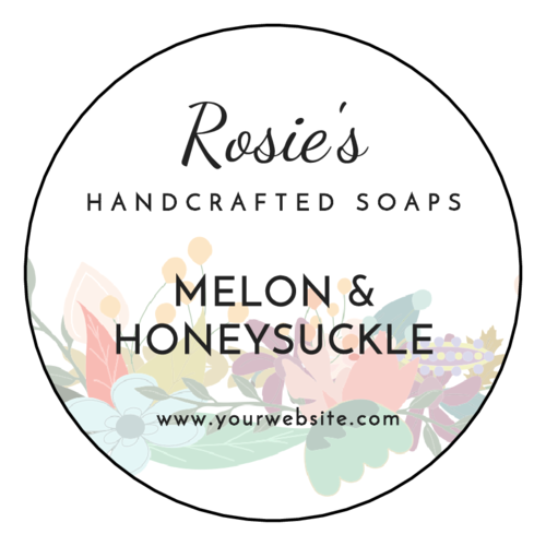 Floral Soap Labels (Circle)