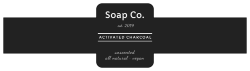 Modern Charcoal Soap Labels pre-designed label template for OL1030