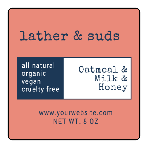 Free soap label printable for small businesses