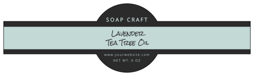 Cosmetic Wrap Around Soap Labels pre-designed label template for OL1103