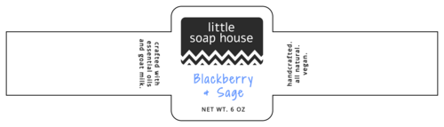 Chic wrap-around label template.