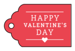 """""""Happy Valentine's Day"""" Gift Tags"""