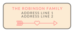 Cupid's Bow Valentine's Day Address Labels