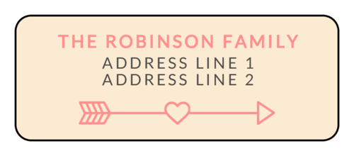 "OL1809 - 3.75"" x 1.4375"" - Cupid's Bow Valentine's Day Address Labels"