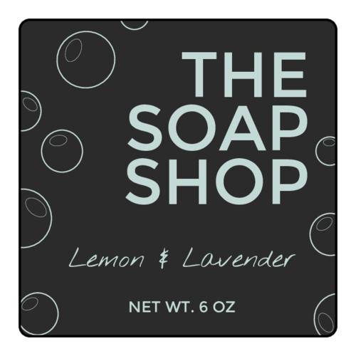 "OL2679 - 2"" x 2"" Square - Squeaky Clean Soap Labels"
