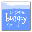 """To Some Bunny Special"" Easter Cardstock Gift Tags"