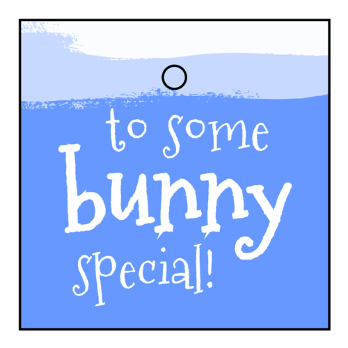 """To Some Bunny Special"" Easter Cardstock Gift Tags pre-designed label template for OL3491"